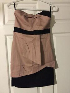 Sweet Heart Pink and Black Cocktail dress. Size Small / XS