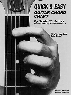 Quick and Easy Guitar Chord Chart - Creative Concepts Publishing NEW 000315149 Easy Guitar Chord Chart