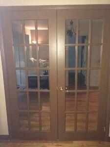 Portes françaises vitrées