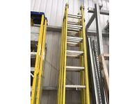 2 x Fibreglass Triple Extenstion Ladders 3.6m closed est.