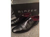 Black men's shiny shoes