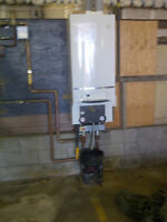two Buderus natural gas / propane boilers