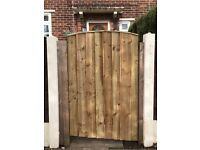 Wooden gate garden gate front gate