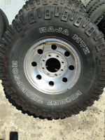 "4 mtz baja 315/75r/15"" mounted on ford stock rims $450.00"