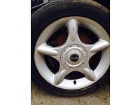 Mini Cooper alloy wheels