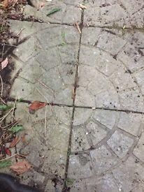 Patio slabs & stones to make retaining wall