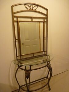 Hall table & matching mirror