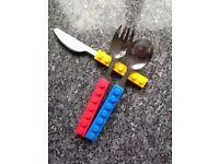 Lego style cutlery bnib