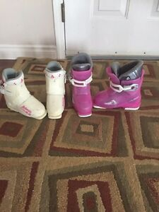 Girls ski boots sizes 4 and 11