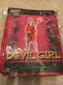 New Girls Devil Costume size 4-6 years