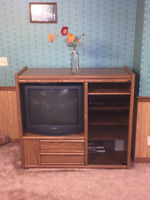 TV and Entertainment Cabinet with glass door!