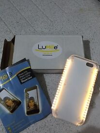 2 x Lumee Light Up Mobile Phone Case Pink & White iPhone 6 6s
