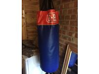 Punch bag with wall bracket