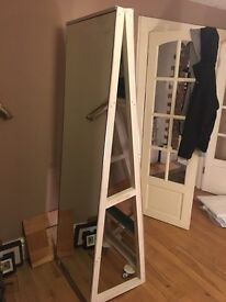 Large free standing double sided mirror