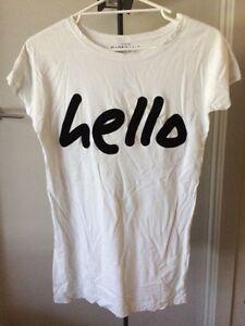 Giordano Womens White Hello Top/Shirt Southbank Melbourne City Preview