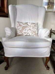 Wingback Chair with Cushion - $100.