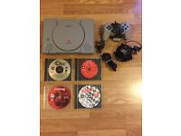 Sony PlayStation 1 console, games.