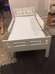 IKEA toddler bed, mattress and bedding