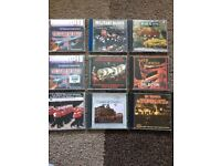 Collection of brass band CD's