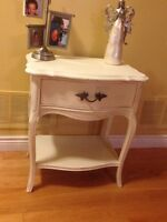 French provincial table with drawer