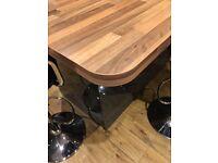 New wren kitchen breakfast bar worktop