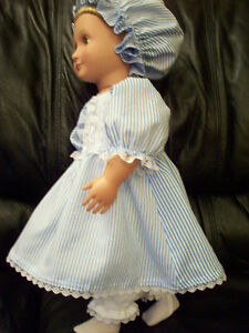 American Girl-sized Doll Clothes - Colonial Pinstripe Windsor Region Ontario image 4
