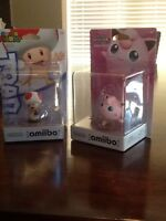 Amiibo Toad and Jigglypuff for sale