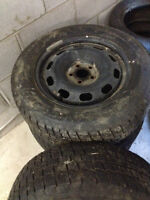 Winter Tires, Very Gently Used, On Rims