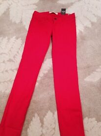 Red size 8 Hollister jeans