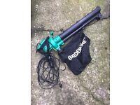 Electric leaf blower vac
