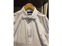 XL men's formal wide collar shirt