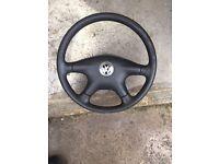 Genuine Volkswagen steering wheel