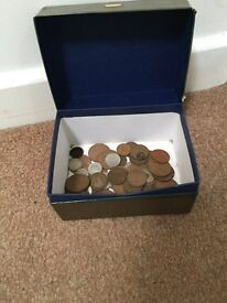 Box in old coins