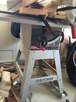 "Craftsman iron top 10 "" table saw"