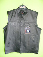 Leather Vest - MODERN STYLE - NEW at RE-GEAR