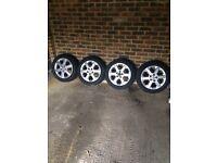 """4 x 16"""" Vauxhall alloys & tyres"""