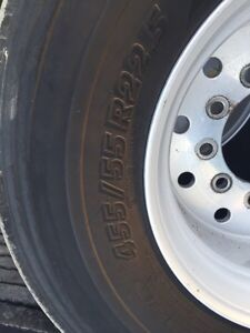 Super single tires for sale 455/55R22.5 Michelin  Kitchener / Waterloo Kitchener Area image 2