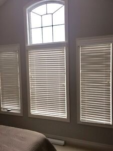Cloud White Faux Wood Privacy Blinds