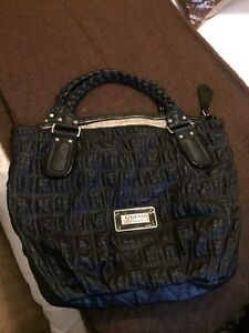 Oversized black leather Guess bag.  London Ontario image 1