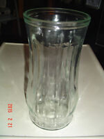 4 ASSORTED STYLES & SIZES OF COLOURED & CLEAR FLOWER VASES