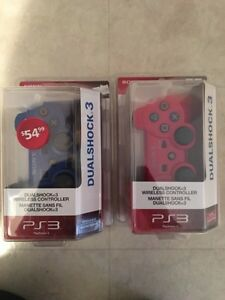 PS3 wireless dual shock controllers