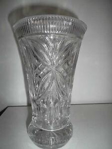 ANCIEN VASE EN VERRE PRESSE -  PRESSED GLASS VASE VINTAGE