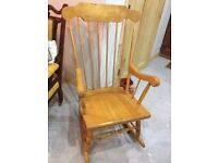 Wooden Rocking Chair - Can Deliver