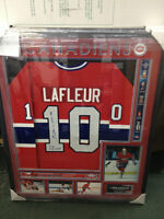Authentic Guy LaFleur Signed and Framed Jersey