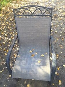 Patio table with 6 chairs $50