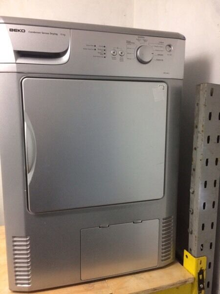 Silver BEKO 6kg condenser dryers good condition with guarantee bargain