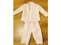 Silk white suit 2-3 years old