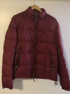 Burberry Burgundy goose jacket