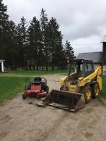 Lawn cutting / yard care and skid steer work