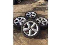 "17"" Audi Alloys 5 Spoke including Tyres"